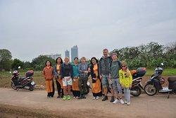 Female Rider Motorbike City Tours Hanoi