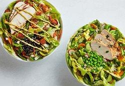 Wrangler Salad (left) and Poppy salad (right)
