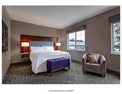 "King Executive Room with two 55"" TVs and separate Living Area with a Wet Bar and Sofa Bed."