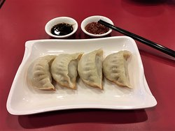 Fried Pork Dumplings, our another signature dim sum.  The shape, the meat ball and juice inside and the crispy skin base are the work of art by our dim sum chefs.  Enjoy it at a higher level by adding vinegar or spicy sauce.