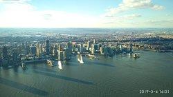 Panoramic view of New York city..