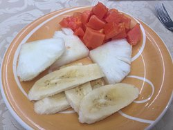Plato de fruta.