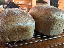 Chefs freshly baked wholemeal bread.