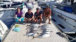 Superbe journée de pêche en mer !