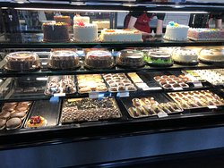 Display cases filled with delicious looking treats!