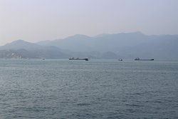A long line on the island