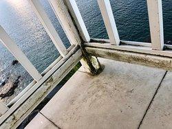 Dirty/crusty balcony. Junior Suite Room 736