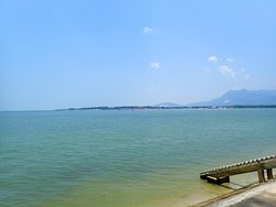 A beautiful view across the river mouth of Sungai Merbok.