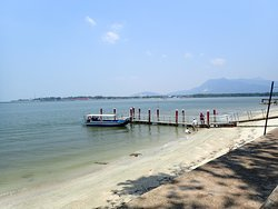 The jetty to take the boats to Tanjung Dawai.