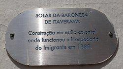 Placa descritiva do Solar