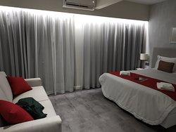 Уютный отель с восхитительными кроватями.