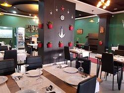 Inside part of Imperial Fish Restaurant Berat!