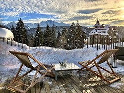 "Roof Top Terrace ""Top of Flims"" with honesty bar"