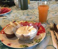 Breakfast (half-eaten). Sorry, it was too delicious.