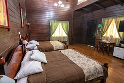 Interior of our cabana. The domestics did an excellent job keeping our room clean and fresh.