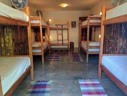 Quarto coletivo do área de hostel