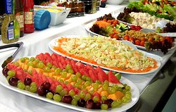 Choice of salads on the smorgasbord