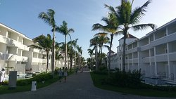 One of the streets to the pool and beach area.