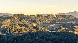 Sun setting at Pang Mapha Viewpoint