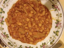 Beans and pork skin @ the Trattoria Perilli in Rome