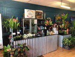 Onsite florist - specialising in locally grown flowers