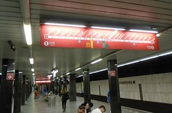 На одной из станций метро