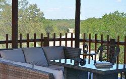 View from the patio veranda