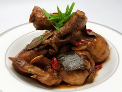 Adobo is a popular Filipino dish and cooking process in Filipino cuisine.