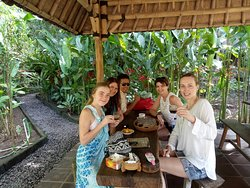 with Ms. Veronika, Hana, Yana and Karolinka from Czech Republic on February 20th-26th 2019.  Loc. coffee plantation near Uluwatu Temple