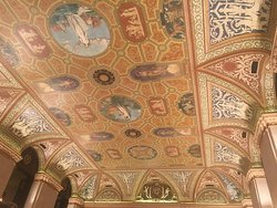 Stunning Palmer House Hilton hotel ceiling.