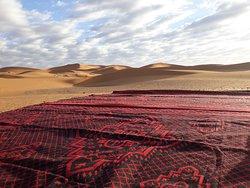La alfombra sobre la que hacíamos la práctica de yoga