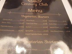 Veg starter menu