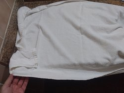 Toalha velha, mesma do chão