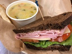 One of our specials, 1/2 sandwich with your choice of soup for $9