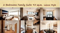 2 Bedroom Family Suite 95 sq.m.  Lanna style