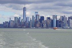 Skyline shot from Staten Island Ferry
