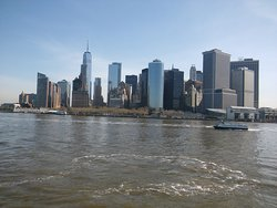 Skyline view from Staten Island Ferry