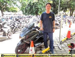 Thanks bro for renting our bike @motoworldbali . Enjoy your ride and safety riding.