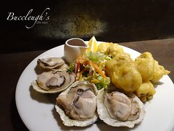 Fresh Bluff Oysters - available raw or battered