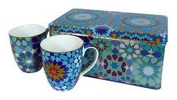 Porcelana decorada con motivos de Azulejos Andaluces