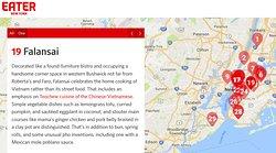 Eater NY named Falansai among the best Vietnamese restaurants in New York City