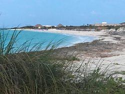 View of the resort from the west beach.