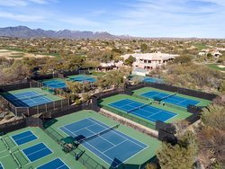 Tennis Courts at the Boulders Clubhouse