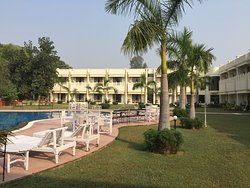 Hotel grounds and pool