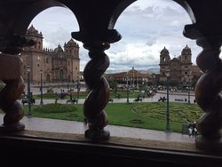 Super delicious food and fantastic panorama view directly in front of Cusco main square!