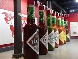 Giant Tabasco Bottles in Factory Tour