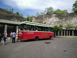 shuttle bus to take you to the park's entrance
