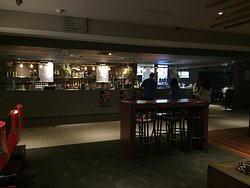 The main bar has a wide range of beers on tap.