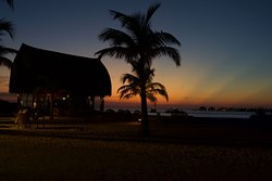 Sunset from the main island bar