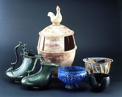Selected objects from the permanent exhibition Roman stories from the crossroads.